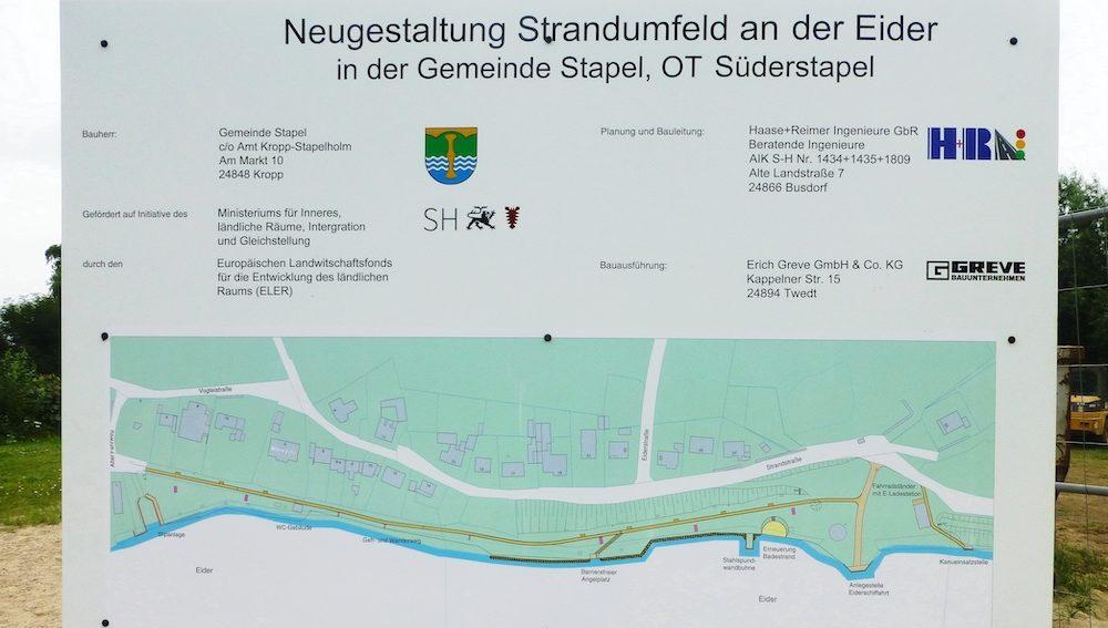 Baufortschritt an der Eiderpromenade (aktualisiert: 19.10.)